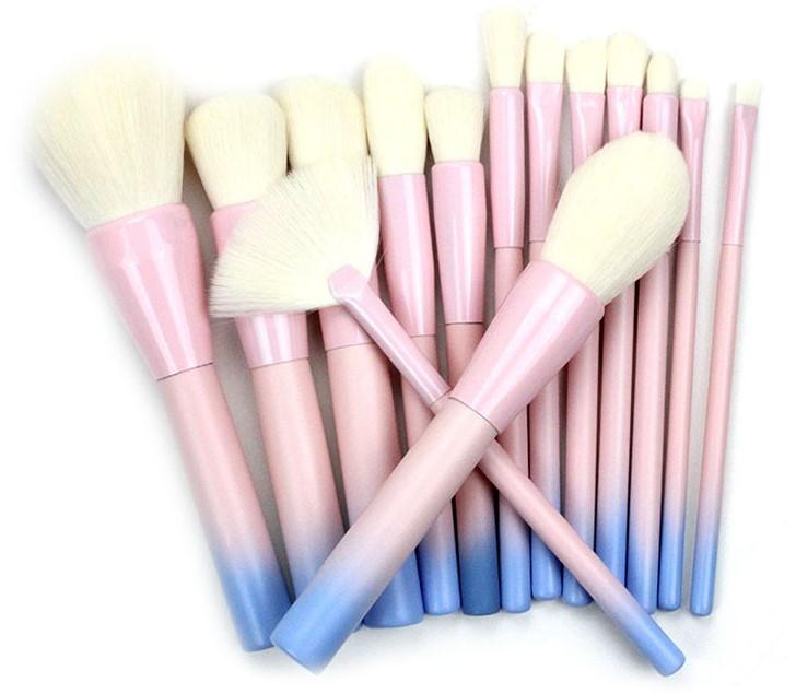 Набор кистей для макияжа14 шт Riofan Pink