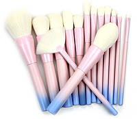 Набор кистей для макияжа14 шт Riofan Pink, фото 1