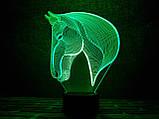 """3D светильник ночник """"Лошадка 3"""" 3DTOYSLAMP, фото 2"""