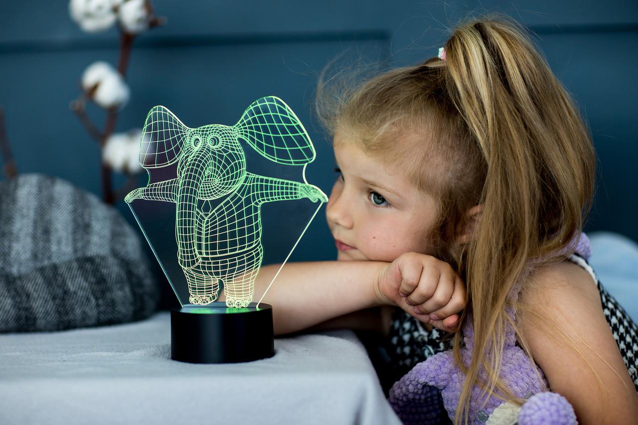 """3D светильник ночник """"Слоник"""" 3DTOYSLAMP"""