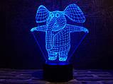 """3D светильник ночник """"Слоник"""" 3DTOYSLAMP, фото 2"""
