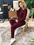 Женский вязаный костюм с мехом на капюшоне( в расцветках), фото 7