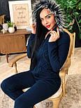 Жіночий в'язаний костюм з хутром на капюшоні( в кольорах), фото 6