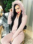 Женский вязаный костюм с мехом на капюшоне( в расцветках), фото 8