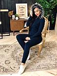 Женский вязаный костюм с мехом на капюшоне( в расцветках), фото 9