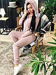 Женский вязаный костюм с мехом на капюшоне( в расцветках), фото 10