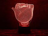 "3D светильник ночник ""Роза"" , фото 2"