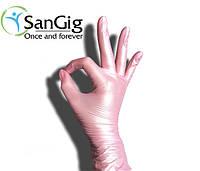 Розовые Перламутровые нитриловые перчатки (Perl)