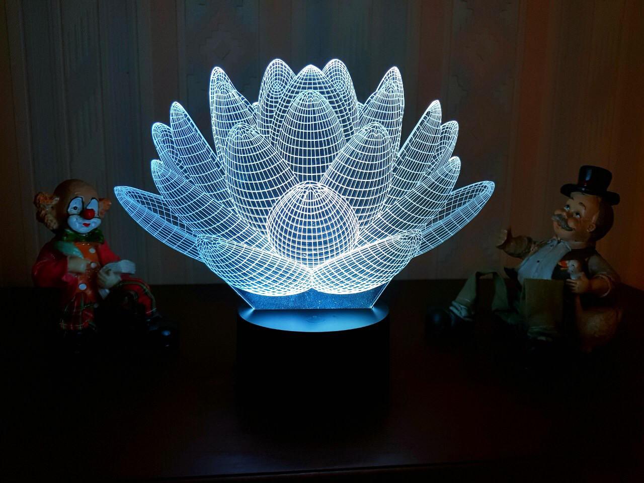 """3D светильник ночник """"Лотос""""  3DTOYSLAMP"""