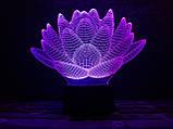 "3D светильник ночник ""Лотос""  3DTOYSLAMP, фото 2"