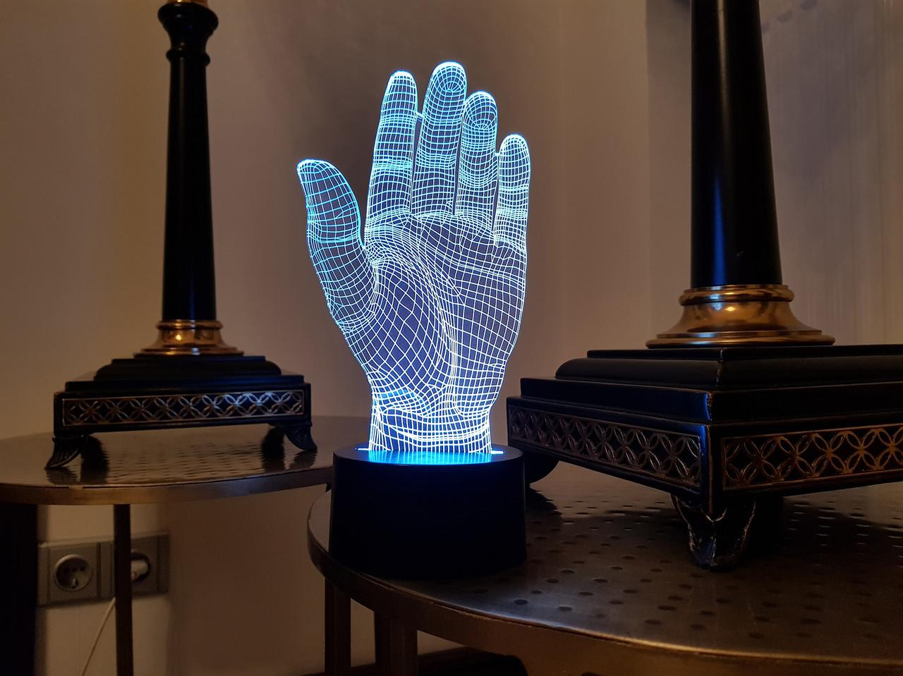 """3D светильник ночник """"Дай пять"""""""