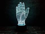"""3D светильник ночник """"Дай пять"""", фото 2"""