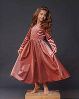 """Длинное детское платье, """"Бант"""""""