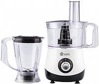 Кухонный комбайн ARITA AFP-7755 BW  (700Вт блендер тесто шинковка черный)