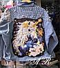 Джинсовая куртка, аппликация из ткани пришита.жемчуг клепки. Размер: 44-46. Цвет: голубой. (8020), фото 5