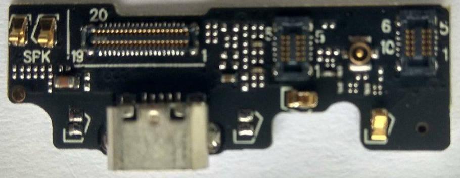 Нижня плата MEIZU U20 з конектором зарядки, фото 2
