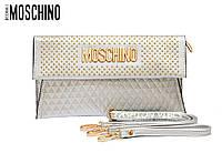 Женский клатч Moschino серебристый