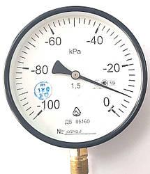 Вакуумметр Стеклоприбор ДВ 05160 - (100-0 кПа) (Діаметр: 160 мм; КЛ: 1.5; М20х1.5) З Повіркою (mdr_5205)