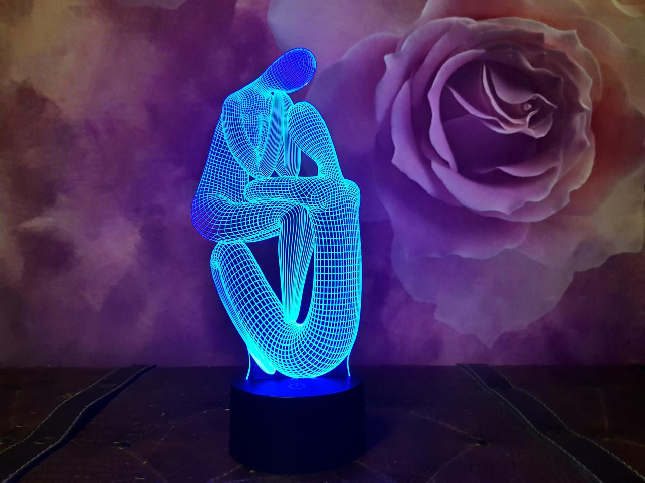 """3D светильник ночник """"Медитация 2"""""""