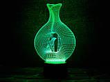"""3D светильник ночник """"Птица в клетке"""" 3DTOYSLAMP, фото 2"""