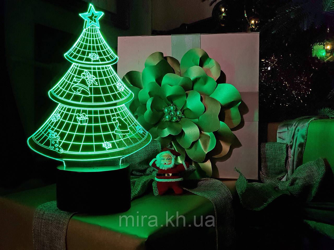 """3D светильник ночник """"Елочка"""" 3DTOYSLAMP"""