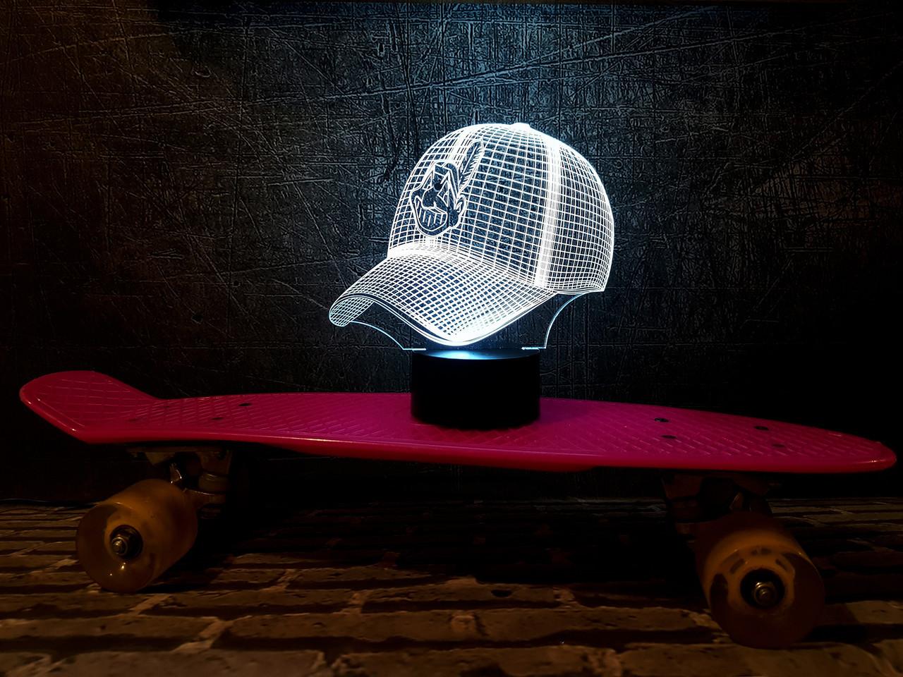 """3D светильник ночник """"Бейсболка"""" 3DTOYSLAMP"""