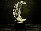 """3D світильник нічник """"Місяць"""" 3DTOYSLAMP, фото 2"""