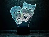"3D светильник ночник ""Маски "" , фото 2"