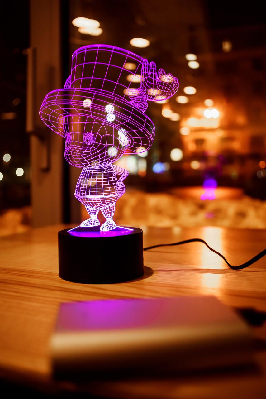 "3D светильник ночник ""Тони Тони Чоппер"" 3DTOYSLAMP"