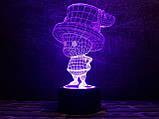 "3D светильник ночник ""Тони Тони Чоппер"" 3DTOYSLAMP, фото 3"