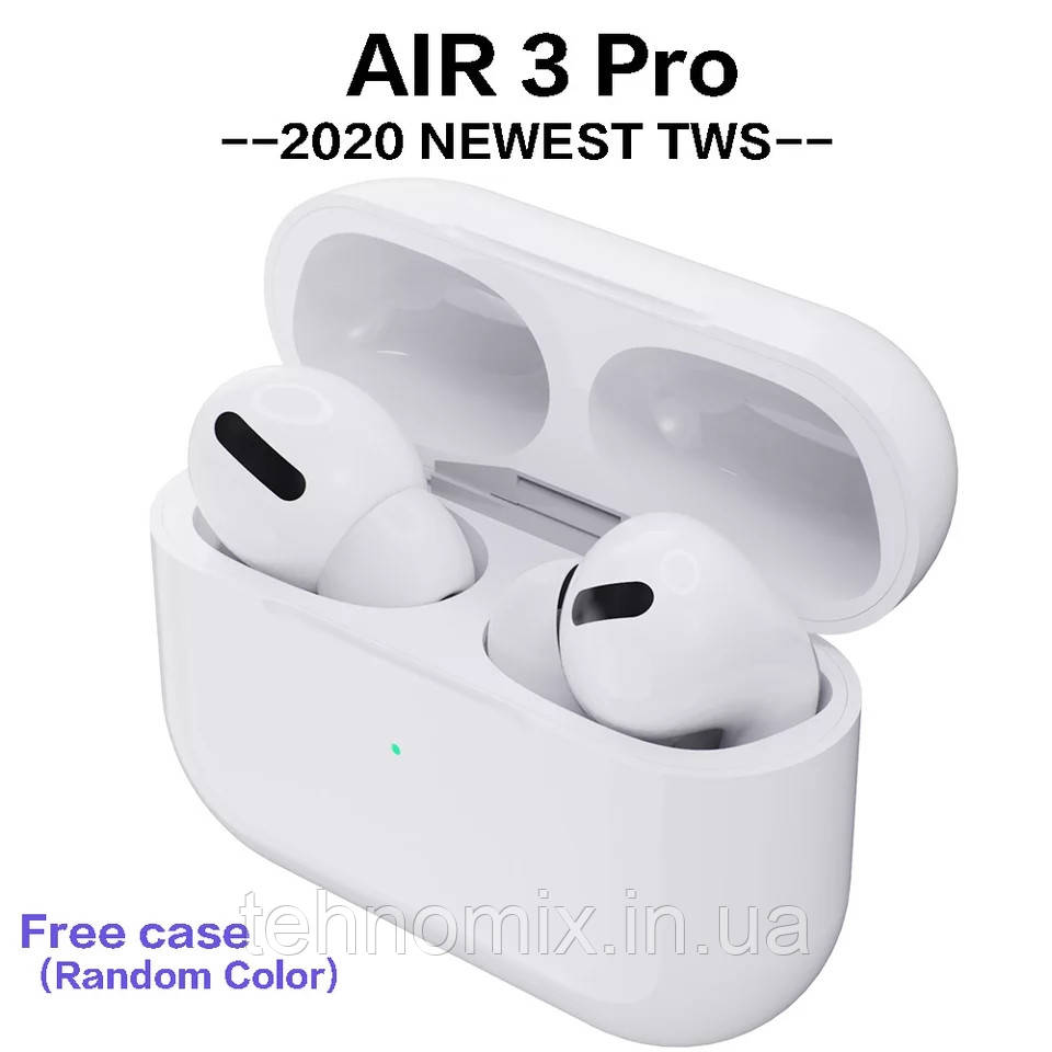 Беспроводные наушники AirPods Pro TWS Bluetooth 5.0 Белый. Беспроводная зарядка