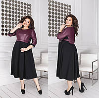 ОН5843 Женское стильное теплое платье батал 48-62 рр