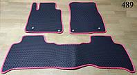 Водо- и грязезащитные коврики на Toyota Land Cruiser 200 '07-12 из экологически чистого материала EVA