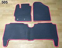Водо- и грязезащитные коврики на Toyota Yaris '06-10 из экологически чистого материала EVA