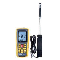 Термоанемометр Benetech GM8903 (0.030-30m/s; 0-45ºC; 0-999900m3/min) USB Память 350 (mdr_5277)