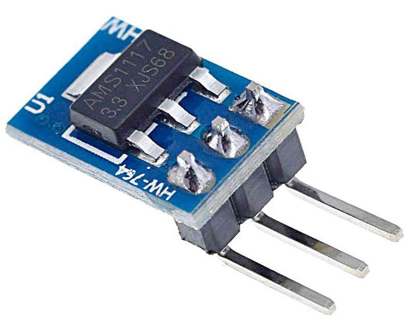 Модуль AMS1117-3.3 mini 3pin. 14мм * 9 мм.
