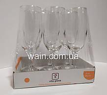 Набор бокалов для шампанского 185 мл 6 шт стеклянных Vita Glass