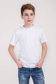 Дитяча однотонна футболка вільного крою (білий колір)