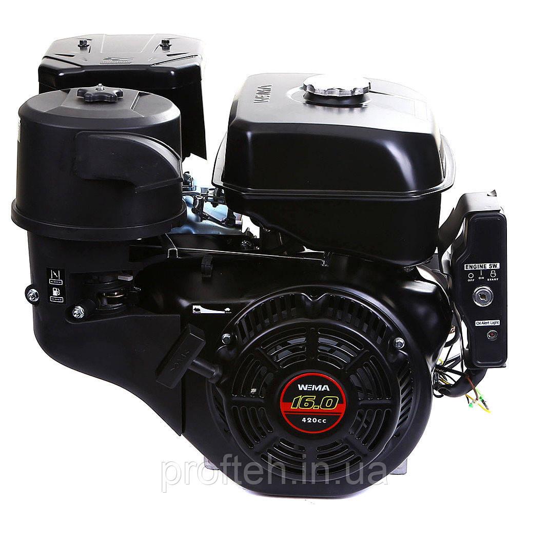 Двигатель бензиновый WEIMA WM190FЕ-S CL (шпонка Ø25мм, эл.старт, 1/2 редуктор с с муфтой сцепления)