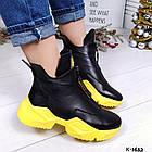 Женские зимние ботинки в черном цвете, из натуральной кожи 36 ПОСЛЕДНИЙ РАЗМЕР, фото 5