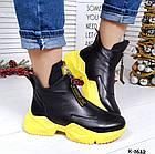 Женские зимние ботинки в черном цвете, из натуральной кожи 36 ПОСЛЕДНИЙ РАЗМЕР, фото 8