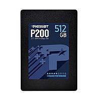 """Твердотельный накопитель 512Gb, Patriot P200, SATA3, 2.5"""", TLC, 530/460 MB/s (P200S512G25)"""