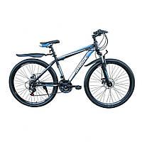 Спортивный велосипед SPARK SHARP 27.5 дюймов (17 и 19 рама) для взрослых. БЕСПЛАТНАЯ ДОСТАВКА. Черно-Синий.