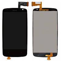 Дисплейный модуль (дисплей + сенсор) для HTC Desire 500, черный, оригинал
