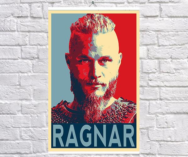 Постер BEGEMOT Поп-Арт Рагнар Лотброк Викинги 40x61 см (1120055)