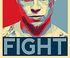 Постер BEGEMOT Поп-Арт Брэд Питт Бойцовский клуб 40x61 см (1120057), фото 2