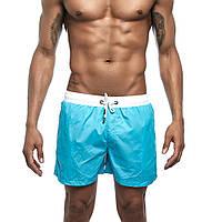 Шорты мужские бирюзовые спортивные с подкладкой и карманами опт, фото 1