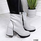 Женские зимние серые ботинки, из натуральной кожи (под заказ 7-16 дней), фото 7