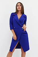S, M, L / Вечірнє жіноче плаття на запах Kristall, синій L (46-48)