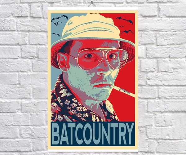 Постер BEGEMOT Поп-Арт Рауль Дюк Страх и ненависть в Лас-Вегасе 40x61 см (1120067)